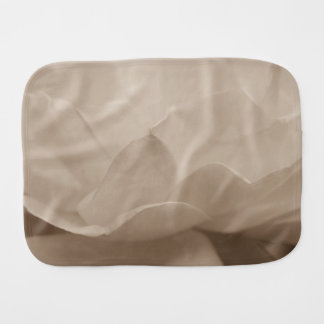 Beauty Of A Rose Sepia Baby Burp Cloths