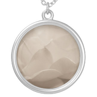 Beauty Of A Rose Sepia Silver Plated Necklace