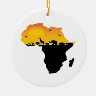 BEAUTY OF AFRICA CERAMIC ORNAMENT
