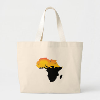 BEAUTY OF AFRICA LARGE TOTE BAG