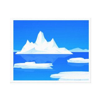 BEAUTY OF ICEBERG CANVAS PRINT