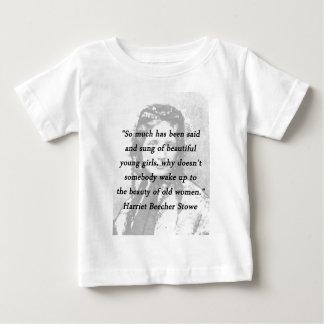 Beauty of Old Women - Harriet Beecher Stowe Baby T-Shirt