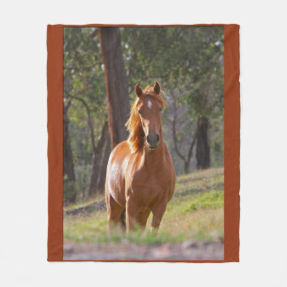 Beauty Of The Horse Fleece Blanket