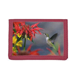 Beauty Of The Hummingbird Tri-fold Wallets