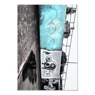 "Beauty of wall graffiti 3.5"" x 5"" invitation card"