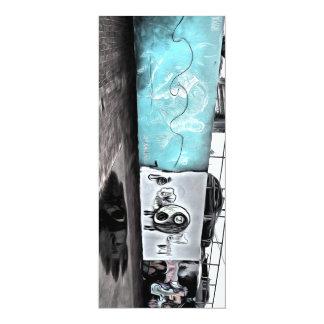 "Beauty of wall graffiti 4"" x 9.25"" invitation card"