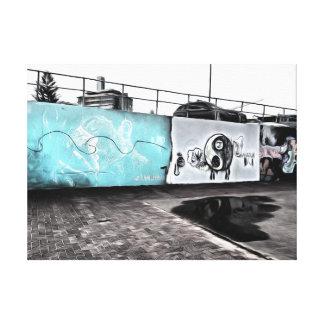 Beauty of wall graffiti canvas print