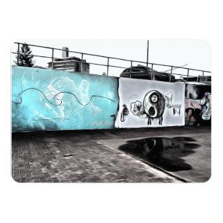 "Beauty of wall graffiti 5"" x 7"" invitation card"