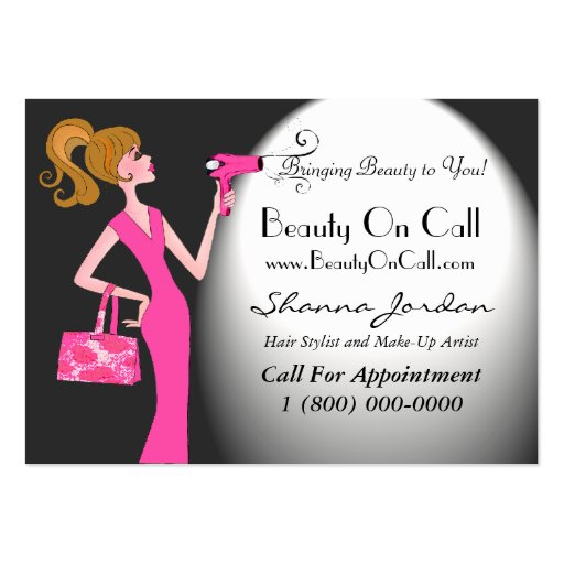 Beauty On Call Business Cards/Chubby