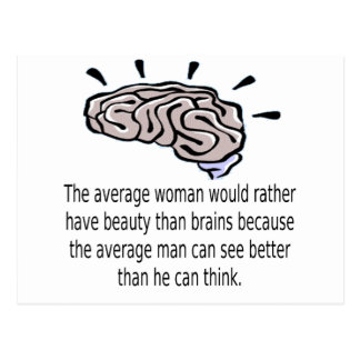 Beauty Over Brains Postcard