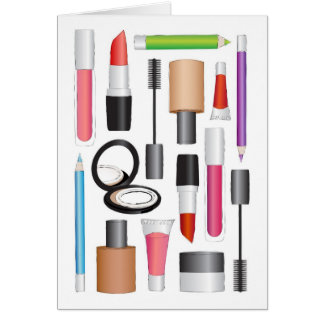 Beauty Products Greeting Card