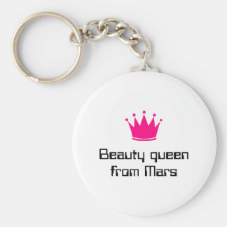 Beauty queen from Mars Basic Round Button Keychain
