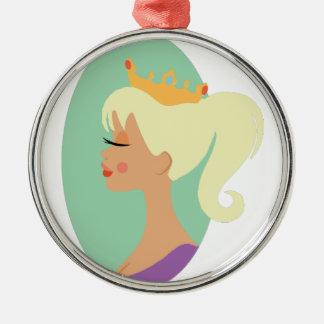 Beauty Queen Metal Ornament
