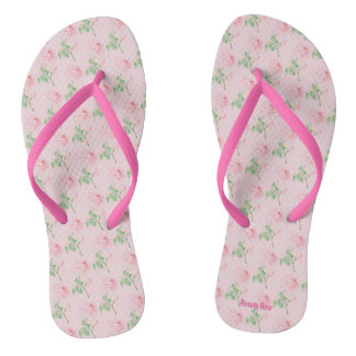 Beauty Rose Flip Flops