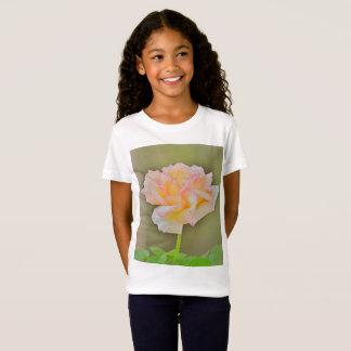 Beauty Rose In Metal Girl's Tee Shirt