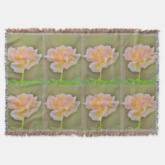 """Beauty Rose"" In Metal Throw Blanket"