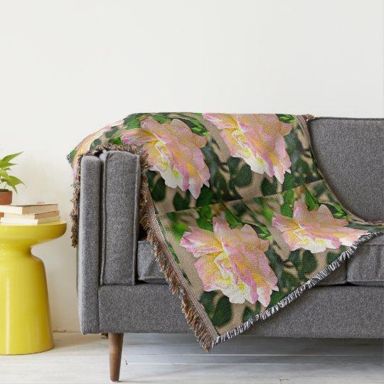Beauty Rose Throw Blanket