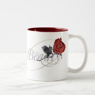 Beauty Rose Two-Tone Coffee Mug