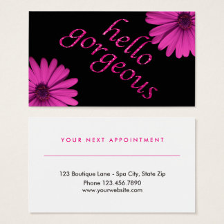 Beauty Salon Appointment Daisy | Hello Gorgeous Business Card