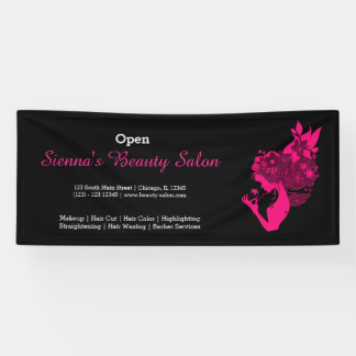 Beauty Salon (deep pink) * choose background color Banner