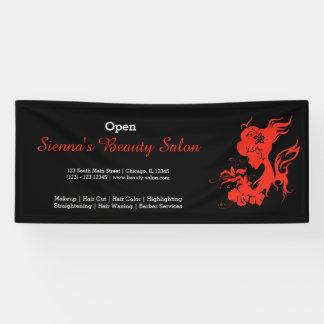 Beauty Salon (firebrick) * choose background color Banner