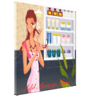 Beauty Salon Girl  Wrapped Canvas