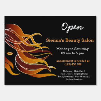 Beauty Salon Hairdresser (brown) Sign