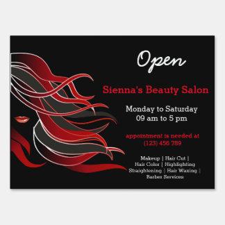 Beauty Salon Hairdresser (red)
