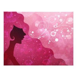 Beauty Salon, Letterhead, Pink Letterhead Template