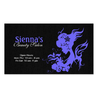 Beauty Salon (Light Slate Blue) Business Card Template