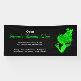 Beauty Salon (lime) * choose background color Banner