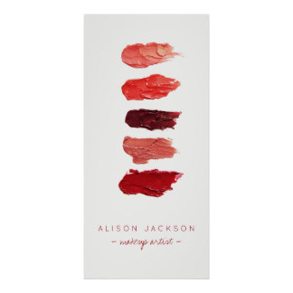 Beauty salon lipstick colors swathes poster