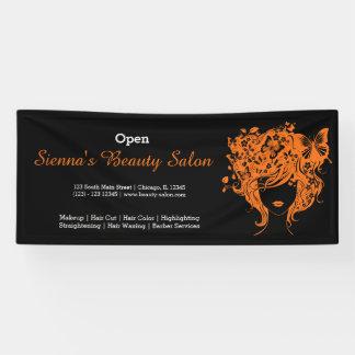 Beauty Salon (orange) * choose background color Banner