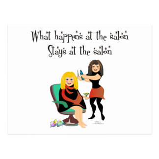 Beauty Salon Secrets Postcard