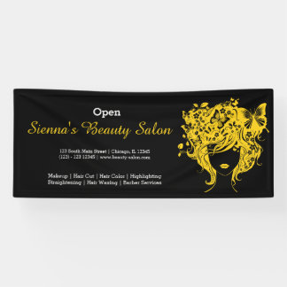 Beauty Salon (yellow) * choose background color Banner