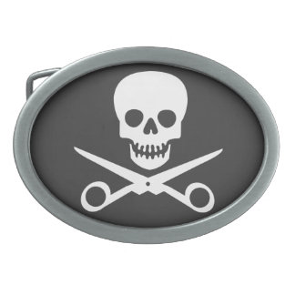 Beauty Shop Pirate_01 Oval Belt Buckles