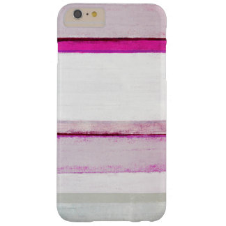 'Beauty Sleep' Pink and Grey Abstract Art Barely There iPhone 6 Plus Case