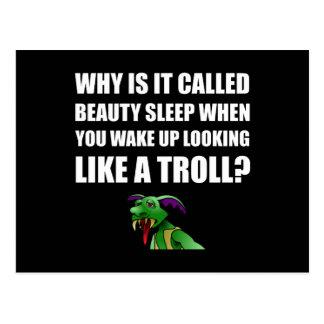 Beauty Sleep Troll Postcard