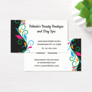Beauty Spa and Manicure Business Card
