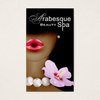 Beauty Spa Arabesque Makeup Artist Business Card