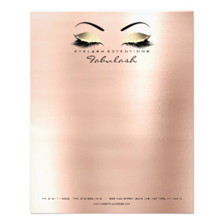 Beauty Studio Lashes Makeup Skinny Letter Head Flyer
