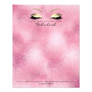 Beauty Studio Lashes Makeup Stylist Blush Pink Flyer