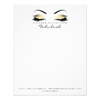 Beauty Studio Lashes Makeup Stylist Letter Head Flyer