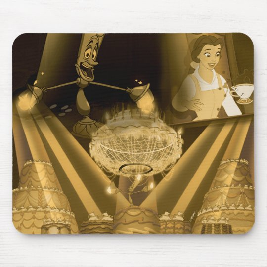 Beauty & The Beast | A Golden Collage Mouse Pad
