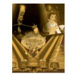 Beauty & The Beast | A Golden Collage Postcard