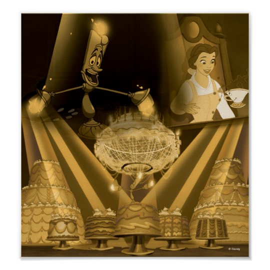 Beauty & The Beast   A Golden Collage Poster