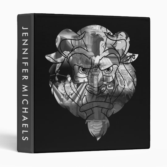 Beauty & The Beast   B&W Collage 3 Ring Binders