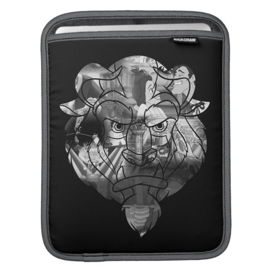 Beauty & The Beast | B&W Collage iPad Sleeve