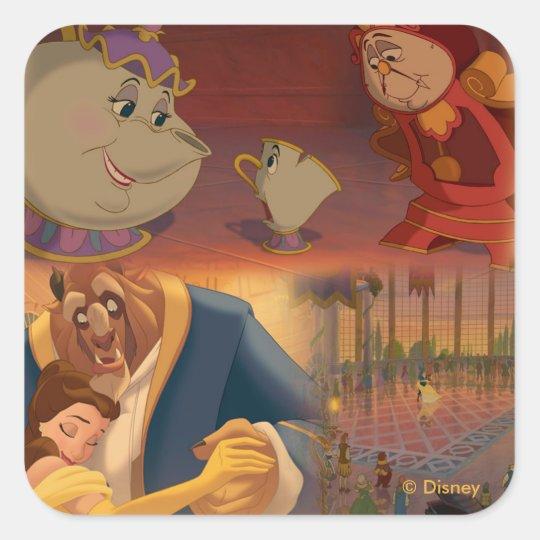 Beauty & The Beast | Beautiful Ballroom Square Sticker