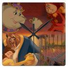 Beauty & The Beast | Beautiful Ballroom Square Wall Clock
